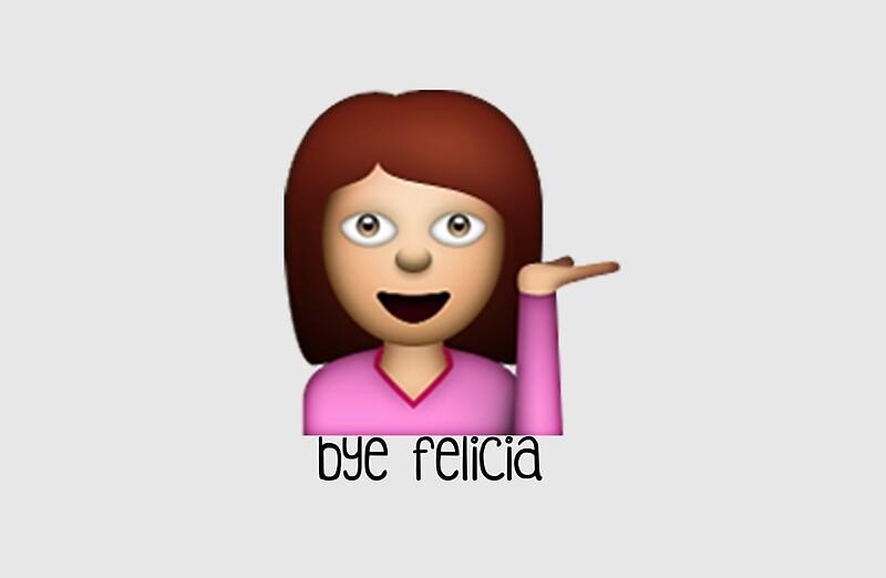 Quot Bye Felicia Emoji Quot Laptop Skins By Worldofcupcakes