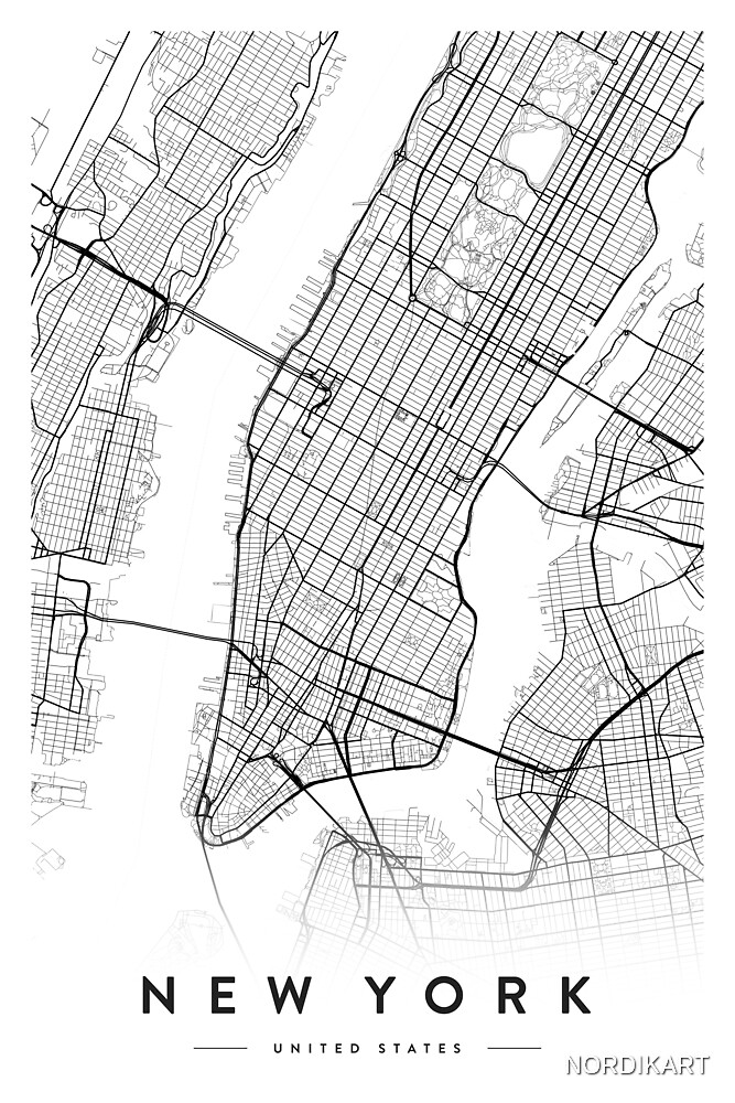 NEW YORK CITY MAP by NORDIKART