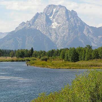 River With Mountain In The Background by HeyMike