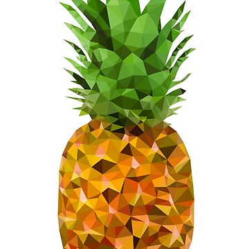 Low Poly Pineapple by baba-ganoush