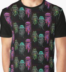 Night glowing jellyfish Graphic T-Shirt