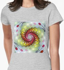 spinning easter eggs Womens Fitted T-Shirt