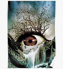 Cascade Crying Eye Poster