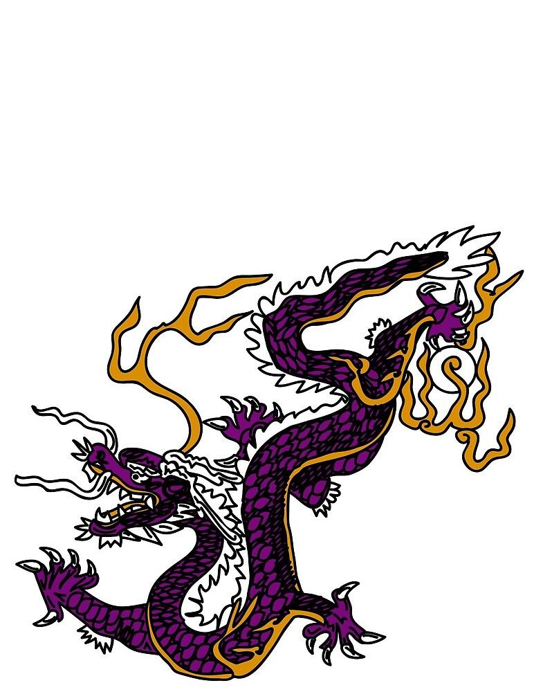 Purple Dragon 001 by djzombie