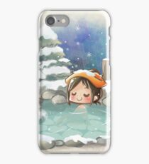 The winter onsen iPhone Case/Skin