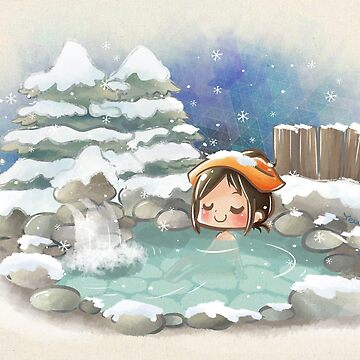 The winter onsen by YenniChau