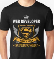 WEB DEVELOPER SUPER POWER WING T-Shirt