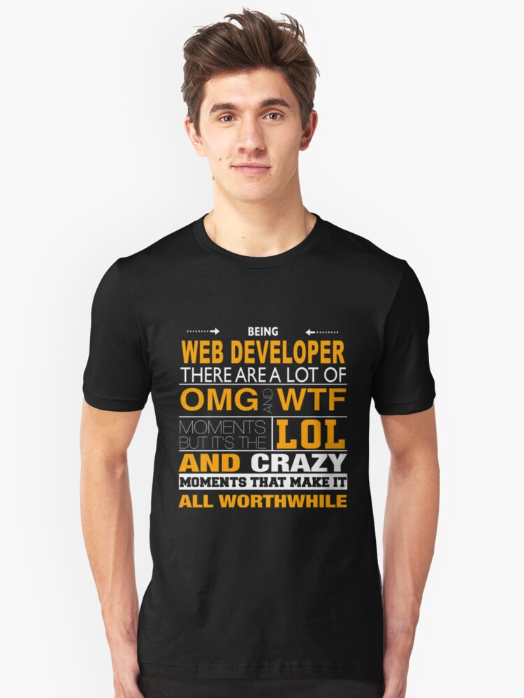 WEB DEVELOPER LOL AND WTF Unisex T-Shirt Front