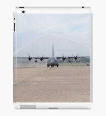 An Air Force C-130E Hercules goes through a fire arch. iPad Case/Skin