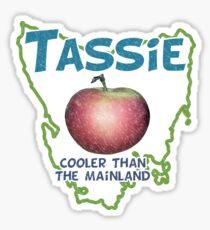 Tassie - Cooler than the Mainland Sticker