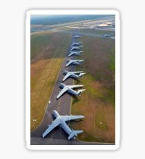C-5 Galaxies align on the runway. Sticker