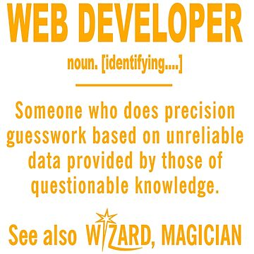 WEB DEVELOPER DEFINITION by jonesl
