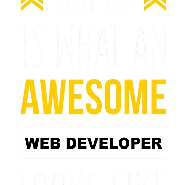 WEB DEVELOPER AWESOME LOOK LIKE by jonesl