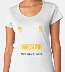 WEB DEVELOPER AWESOME LOOK LIKE Women's Premium T-Shirt