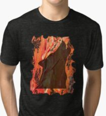 HOWL - WILD WOLF IN SILHOUETTE  Tri-blend T-Shirt