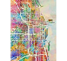 Chicago City Street Map Photographic Print