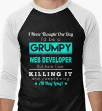WEB DEVELOPER GRUMPY Men's Baseball ¾ T-Shirt