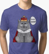 Cat King Tri-blend T-Shirt
