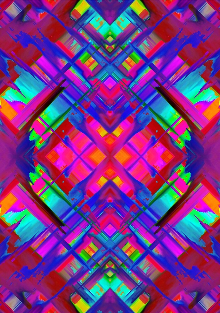 Colorful digital art splashing G483 by MEDUSA GraphicART