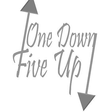 One up, fove down cursive print by Fzr2stun
