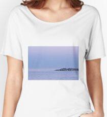 Magenta sunset over a quiet sea Women's Relaxed Fit T-Shirt