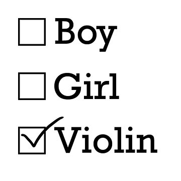 Gender is Violin by riotrainbows