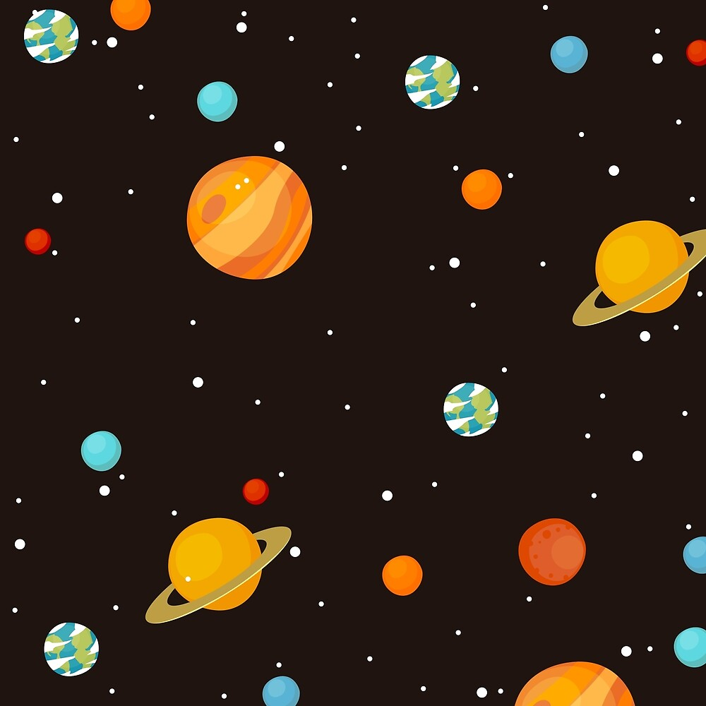 Science Outer Space Print by roseglasses