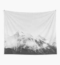 MOUNTAIN Black & White Wall Tapestry