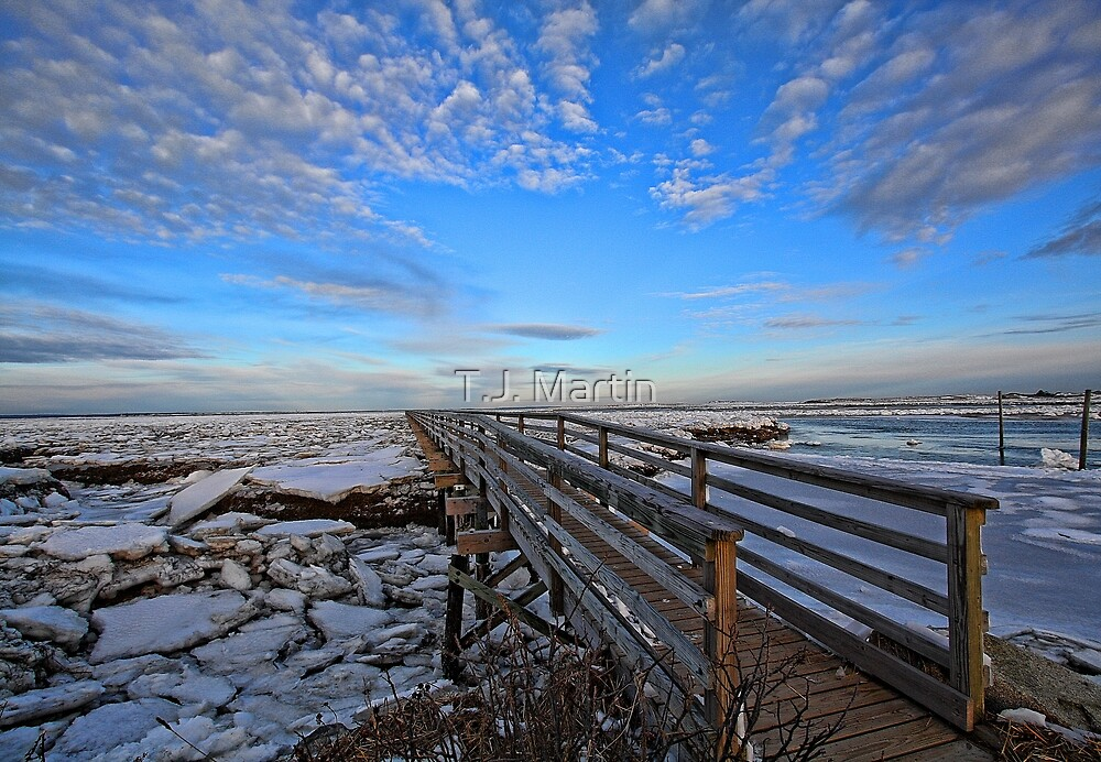 Across The Ice & Toward The Horizon - Yarmouthport, MA by T.J. Martin