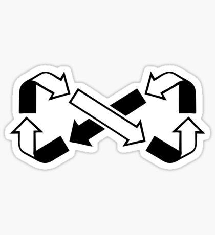Mobius Says Recycle (Black design) Sticker