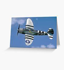 P-47D Thunderbolt 45-49192 G-THUN Greeting Card