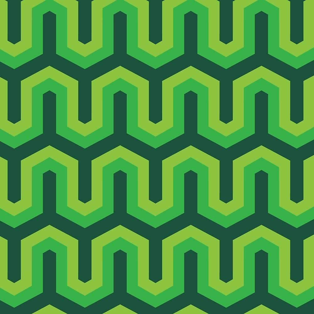Green Geometric Pattern by roseglasses
