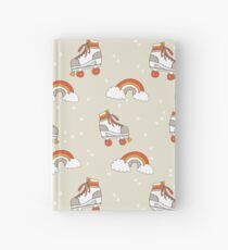 Rollerskates nostalgia pattern print cute 80s rainbows retro style by andrea lauren Hardcover Journal