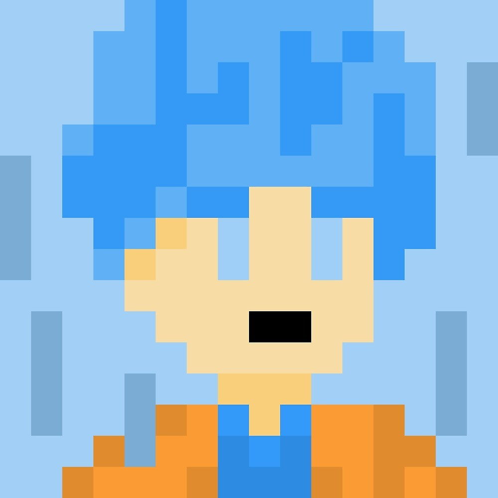 Goku - Super Sayian Blue Pixel by Swasbi