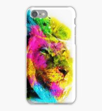 Lion in colours iPhone Case/Skin