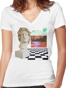 Floral Shoppe - Macintosh Plus Women's Fitted V-Neck T-Shirt