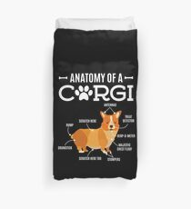 Funda nórdica Anatomy Of A Corgi Funny Dog Lover Gift