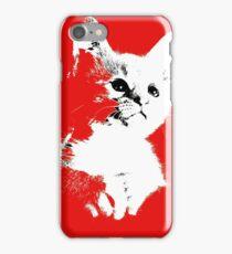 Pop art cat iPhone Case/Skin