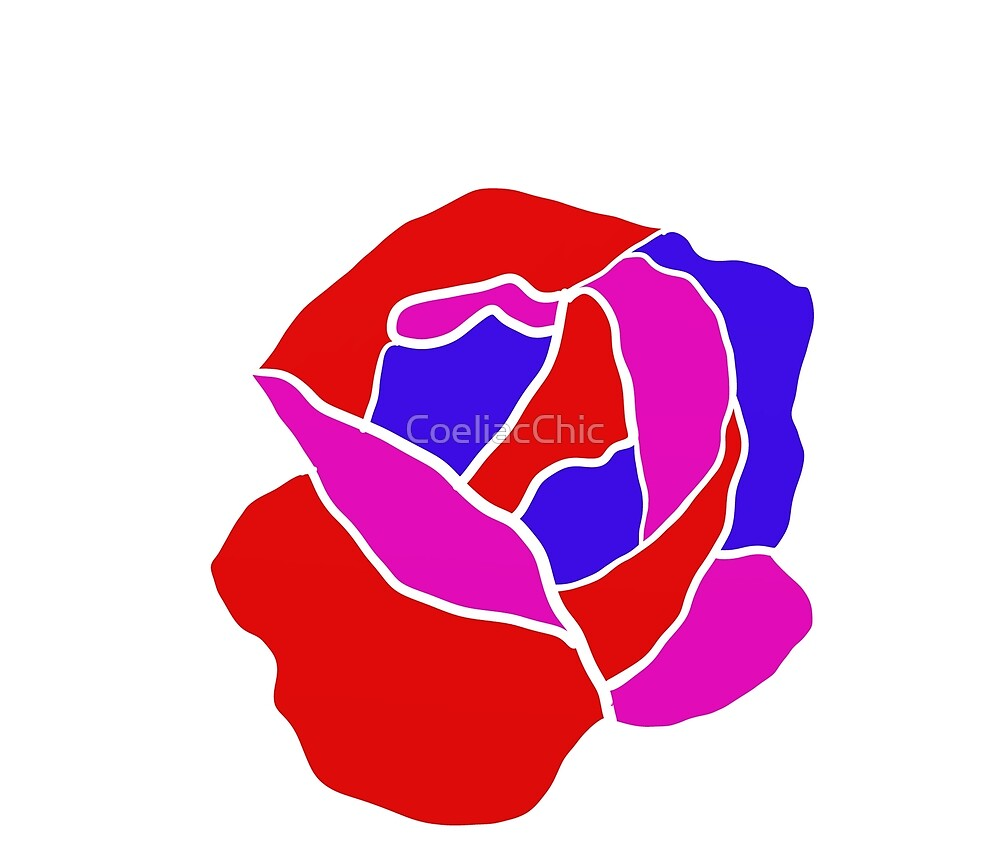Bisexual pride Rose by CoeliacChic