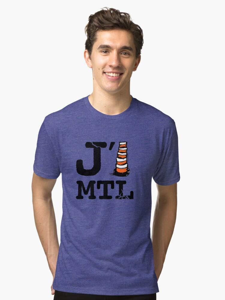 j'aime Montréal Tri-blend T-Shirt Front