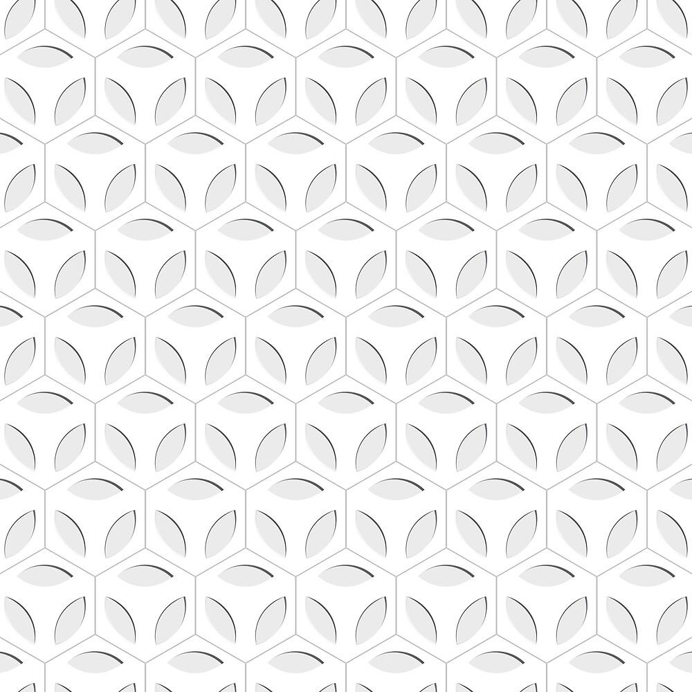 Grey Leaves Pattern by roseglasses