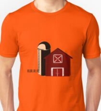 Barn With Silo Unisex T-Shirt