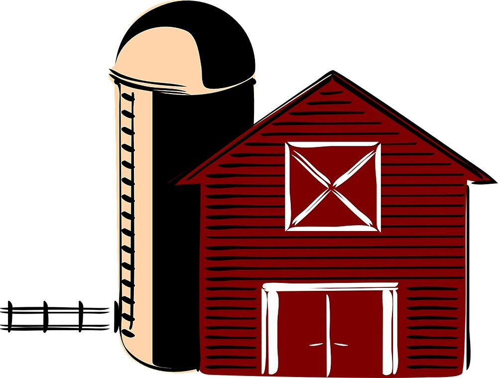 Barn With Silo by prodesigner2