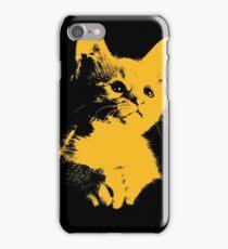 Pop art yellow cat iPhone Case/Skin