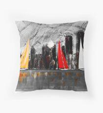 A Chicago Sail Throw Pillow