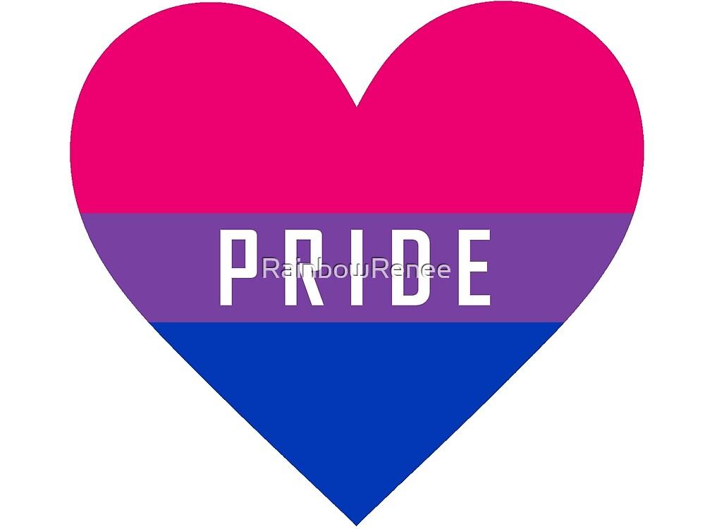 Bi Pride Heart by RainbowRenee