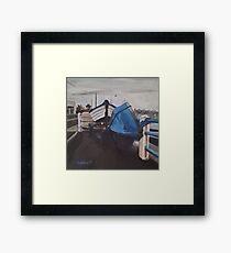 Dull Day, Harbour Road, Skerries Framed Print