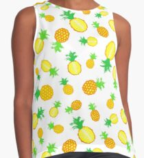 Pineapple Background Painted Pattern Contrast Tank