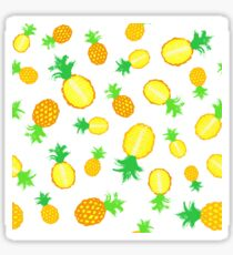 Pineapple Background Painted Pattern Sticker
