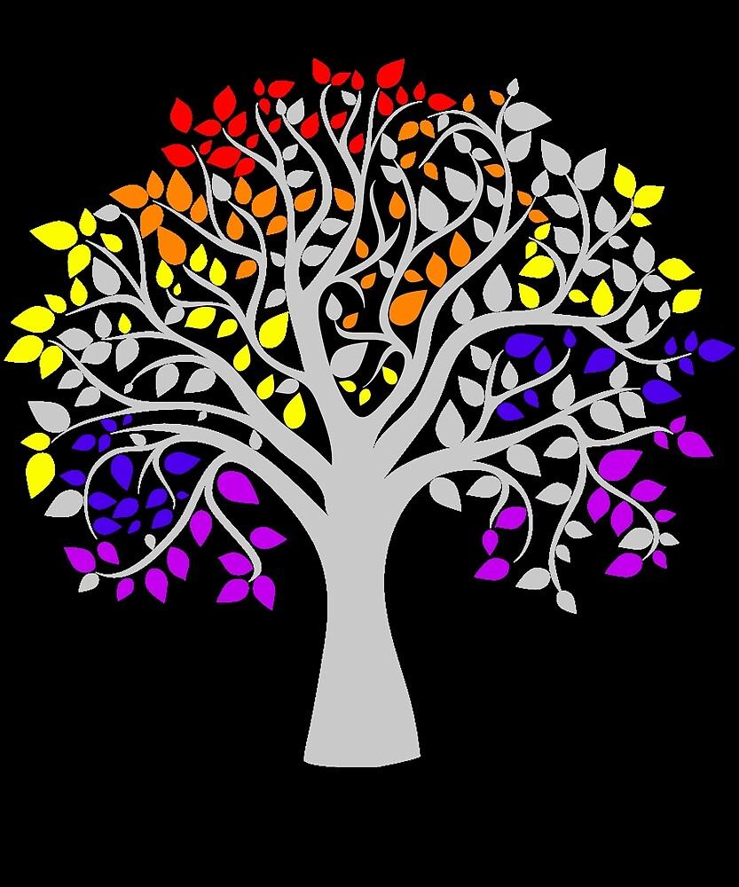 Tree Of Pride LGBT Women's T Shirt LGBT Pride Shirt by chihai